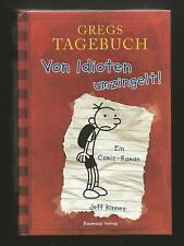 Gregs Tagebuch 1, Von Idioten umzingelt, Comic Roman. Jeff Kinney. Gebundenes Bu