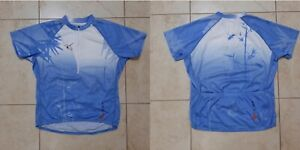 Cannondale Women Cycling shirt M Jersey Blue Cycle Camiseta Italy
