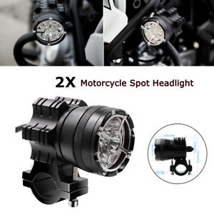 Modified Motorcycle Car Lighting Spot Lamp 60W/4000LM Headlight Foglamp w/Switch