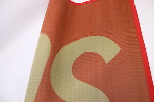 """Supreme Straw Woven Mat Red - 27"""" x 77"""""""