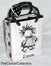 ENESCO PERSONALLIZED CERAMIC BAG & LAPEL PIN - DENISE - LOVE IS WHY WE ARE HERE