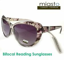 b34945bddca MIASTO VINTAGE BIG CAT EYE READER READING SUN GLASSES+1.75 OVERSIZED ( BIFOCAL)