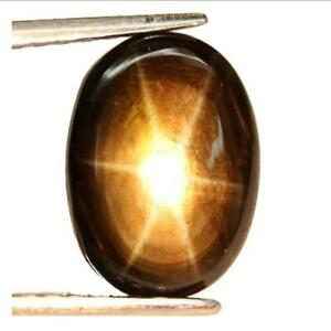 NATURAL Black STAR Sapphire 10.2 x 7.7 mm. AMAZING 6 Rays MOVING Star AAA GEM