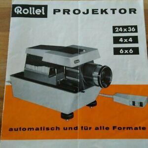 Rollei PROJEKTOR    - VerkaufsProspekt Broschüre Preisliste  1962