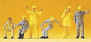 Preiser 14128 HO Working Crane Personnel Figures (Set of 6)