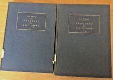Processo di esecuzione due volumi Italo Schettini 1962 Editrice Internazionale