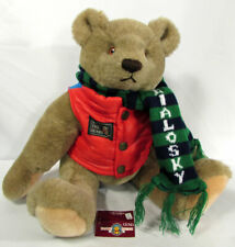 "Vintage Teddy Bear Jointed 1982 Gund Bialosky ""Save the Bears"" 18"" Red Vest"