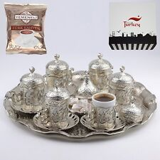 SALE 27 count Turkish Greek Arabic Coffee Espresso Serving Cup Saucer Set