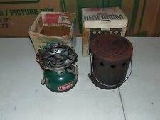 VINTAGE COLEMAN SPORTSTER 502 SINGLE BURNER CAMP STOVE WITH HEAT DRUM