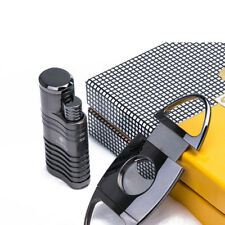 Cohiba 4 Torch Jet Flame With Punch Set Black Chrome Cigar Lighter Cutter
