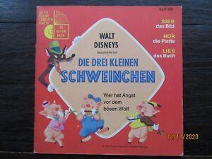 """Tonbuch + 7"""" Si. – FOC mit Booklet – Walt Disney's Die drei kleinen Schweinchen"""