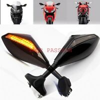 Black LED Integrated Blinker TurnSignal Mirrors Hyosung GT125R GT250R GT650R