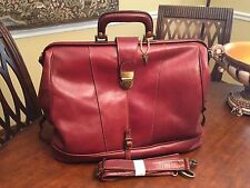 Italian Calf Leather Large Doctor / Travel / Weekender Gladstone Bag