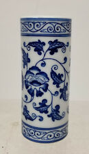20th Century Republic CHinese Underglaze BLue and White Reign Mark Brushpot