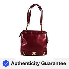Chanel кожи ягненка средний Cc сумка с короткими ручками, наплечная сумка бордовый красный 12B1I17000