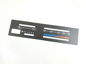 Genuine Toyota Corolla AE86 4AC DX GTS SR5 Climate Control HVAC Face Plate Cover