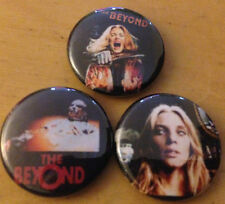 "The Beyond movie lot of 3 1"" pins pinback buttons Horror Lucio Fulci Zombie gore"
