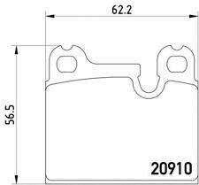 Mdb2167 Mintex Set Pastiglie dei Freni Freno a disco posteriore