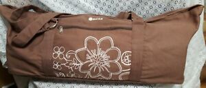 Gaiam Yoga Mat & Carrying Bag Case w/ Exercise Workout Rubber Mat