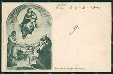 Roma Città Raffaello Sanzio Madonna di Foligno cartolina XB4176