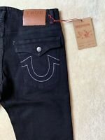 True Religion Jeans Black Stretch Slim Fit Rocco Division New With Tags W36 L32