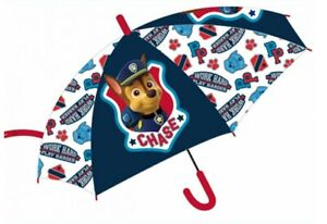 PAW PATROL CHASE DOME BOYS RAIN UMBRELLA KIDS SCHOOL PANEL BROLLY MARSHALL NEW