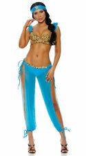 Sexy adult blue princess Jasmine pants costume