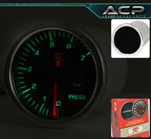 """Universal Car Engine 2"""" Oil Pressure Gauge Analog Display 7 Color Display Meter"""