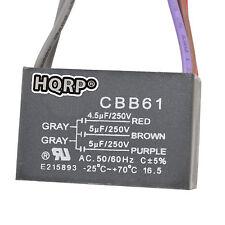 HQRP Capacitor para Harbor Breeze 4.5uf+5uf+5uf, 5-Alambres / CBB61 Reemplazo