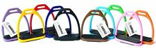 AMIDALE ALUMINUM LIGHT WEIGHT STIRRUPS HORSE RIDING WITH TREADS 10 COLORS 3 SIZE