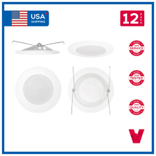 """6"""" IN. Recessed Can Premium Albalite Lens Frosted Shower & Damp Trim Downlight"""