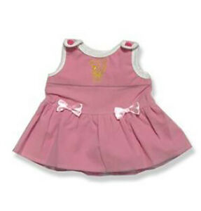 """Girls Pink Pinafore Outfit Teddy Bear Clothes Fits Most 14"""" - 18"""" Build-a-bear a"""
