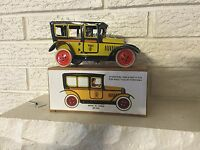 A classic wind-up PAYA Yellow Tin Litho  TOY 1929 TAXI w clockwork Mech NIB