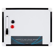 A4 Dry Board Magnetic Wipe White Pen Eraser Whiteboard Memo Notice Attached New