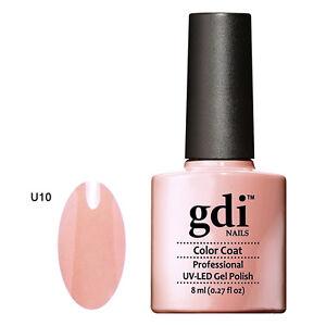 GDI NAILS - U10 PALE MUTED PINK - SUBTLE NUDE - UV LED GEL NAIL POLISH VARNISH