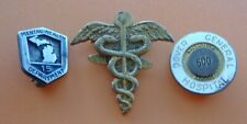 3 Medical or Hospital Employee Pin Badges: Mental Health, Dover General; Symbol