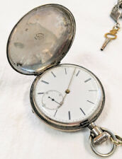Patent Lever Key-Wind Pocket Watch Antique L. Perrin Locle Silver
