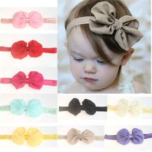Handmade Baby Kids Girls Bowknot Headband Toddler Elastic Hair Band Headwear Bow