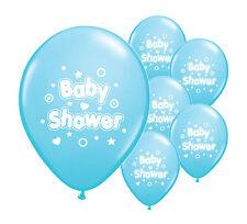 """10 X azul de bebé ducha 12"""" Helio O Aire Llenar Globos Bebé Niño Azul Decoraciones"""
