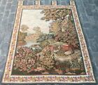 16208 Vintage French Pictorial Tapestry Authentic Wall Hanging Home Decor 4x5 ft