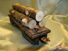 1 Logging Car - custom built, weathered and painted - from historic picture - O