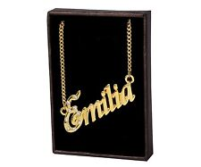 """Name Necklace """"EMILIA"""" – 18K Gold Plated 