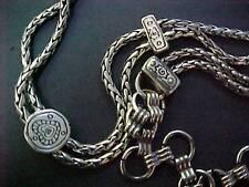 "Vinatge 1970's XS Ladies Fashion Metal Chain Belt 28"" ~ 32""  Silver Tone TAIWAN"