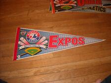 ORIGINAL 1990'S MONTREAL EXPOS MLB FULL SIZE PENNANT