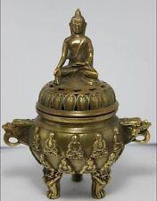 Belle statue de Bouddha en laiton encensoircenser