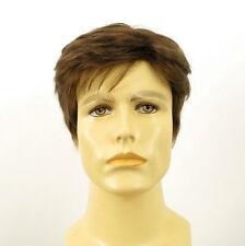 Perruque homme 100% cheveux naturel châtain clair ref ALAIN 8