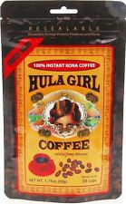 HULA GIRL 100% KONA COFFEE FREEZE DRIED INSTANT 1.75 OZ