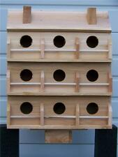 PURPLE MARTIN BIRD HOUSE WITH 9 COMPARTMENTS WESTERN RED CEDAR . BIRDS FREE S/H