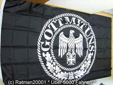 Fahnen Flagge Deutsches Reich Gott mit uns schwarz - 2 - 150 x 250 cm