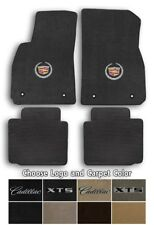 Cadillac XTS 4pc Velourtex Carpet Floor Mat Set - Choose Color & Logo